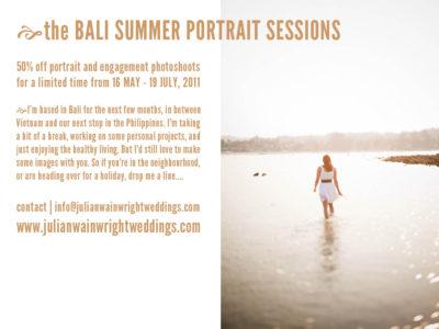Bali portrait photography promotion