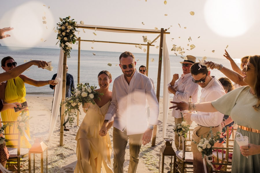 Koh Samui wedding vows at Inasia villa