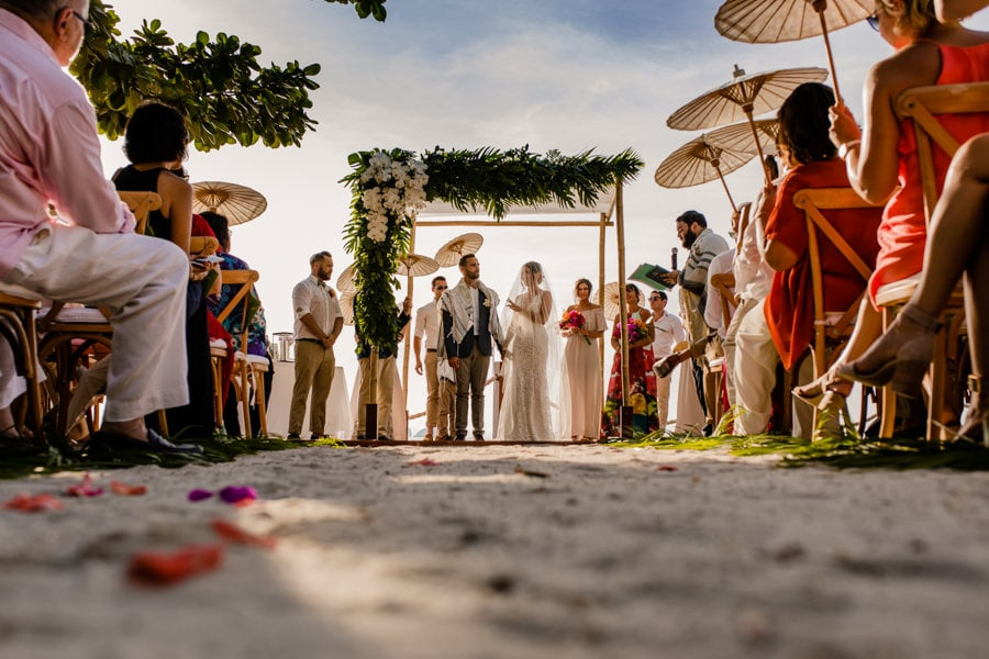 A Jewish wedding ceremony at The Conrad Koh Samui Resort